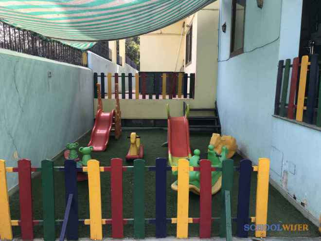 delicate angels Playschool sector 47 malibu town gurgaon covered playarea