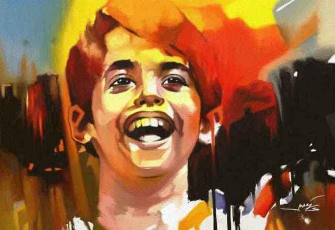 painting in Taare zameen par