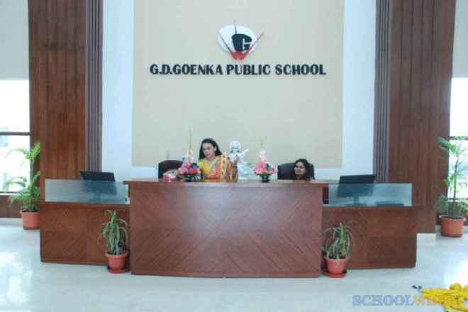 gd goenka public school sector 48 gurgaon gdgps reception area 2