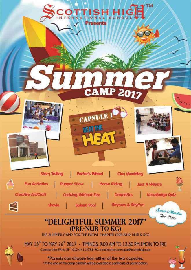 Ordinaire Scottish High Summer Camp 2017 In Gurgaon SchoolWiser