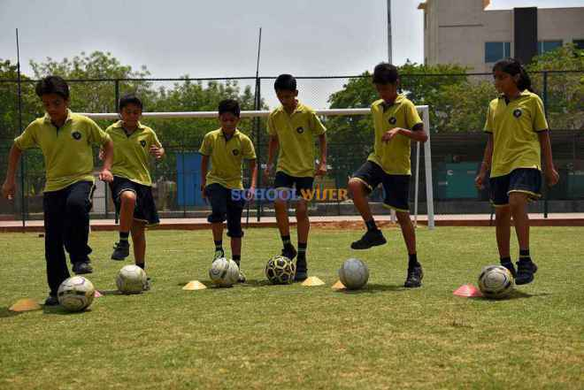 shalom presidency school gurgaon outdoor ground football