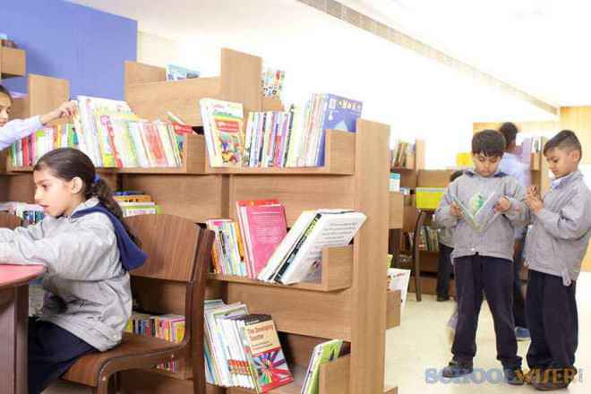 the paras world school india gurgaon library 1