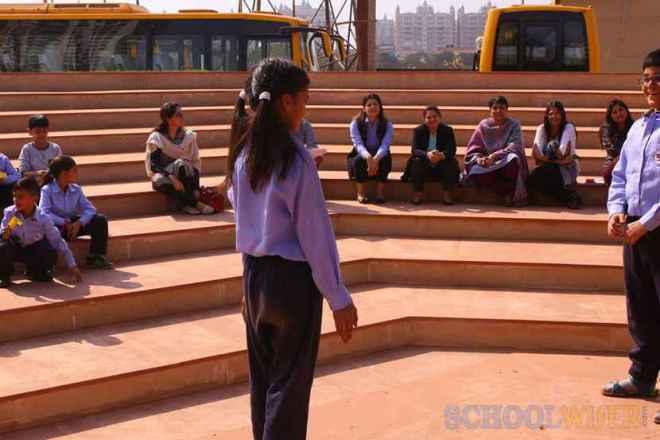 the paras world school india gurgaon open theatre