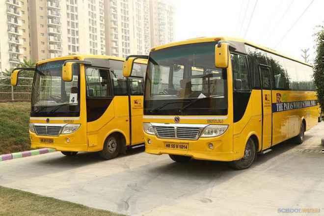 the paras world school india gurgaon transport image